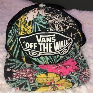 Vans Trucker Hat in Hawaiian Tropical Print